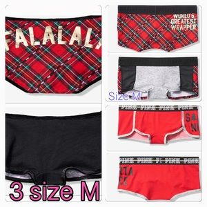 Size M 💐 Victoria's Secret Pink logo boyshort set